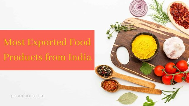 Most Exported Food Products